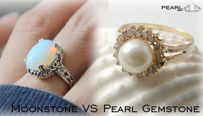 Moonstone VS Pearl Gemstone.